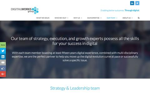 Screenshot of Team Page digitalworksgroup.com - Our team of strategy, execution, and growth experts - captured June 4, 2017