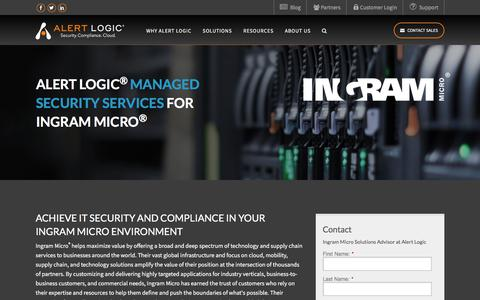 Managed Security Services for Ingram Micro   Alert Logic