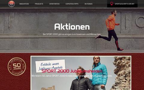 Screenshot of Press Page sport2000.de - Aktionen - jetzt mitmachen - captured Sept. 22, 2016