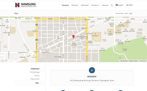 Screenshot of Maps & Directions Page nsbco.com - Map | nsbco - captured Nov. 3, 2014