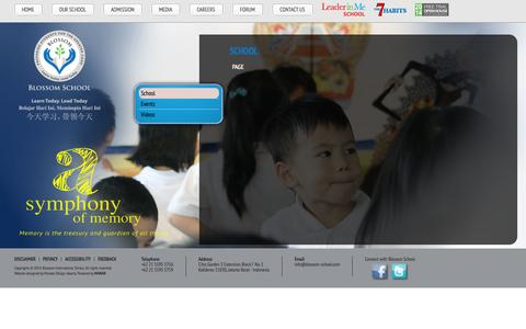Screenshot of Press Page blossom-school.com - Blossom International School - captured Oct. 5, 2014