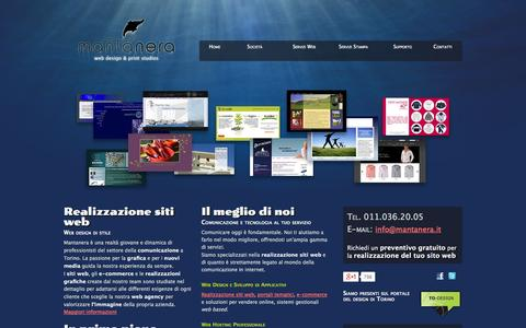 Screenshot of Home Page mantanera.it - Mantanera.it | Ecommerce Torino | Siti web Torino | Realizzazione e-commerce Torino - captured Sept. 22, 2014