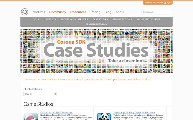 Screenshot Case Studies on Mobile App Development with Corona SDK | Corona Labs