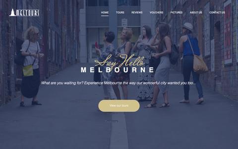 Screenshot of Home Page meltours.com.au - MELTours | Melbourne Walking Tours | Laneways, Arcades, History - captured Dec. 19, 2015