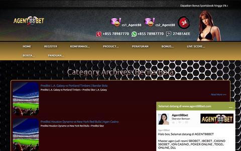 Screenshot of Press Page agent88bet.net - Berita Bola - captured Feb. 19, 2016