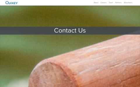 Screenshot of Contact Page quixey.com - Contact us at Quixey, The Search Engine for Apps - captured Oct. 28, 2014