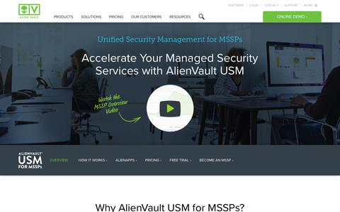 USM for MSSPs | AlienVault