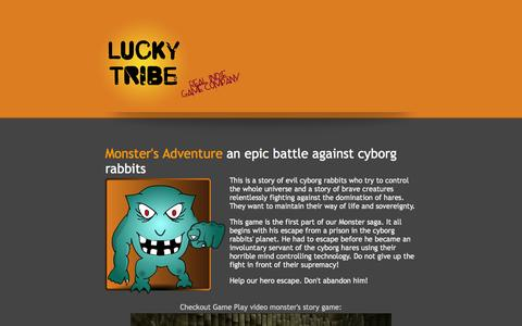 Screenshot of Products Page luckytribe.net - Games made by Lucky Tribe game company - Lucky Tribe - captured Sept. 30, 2014