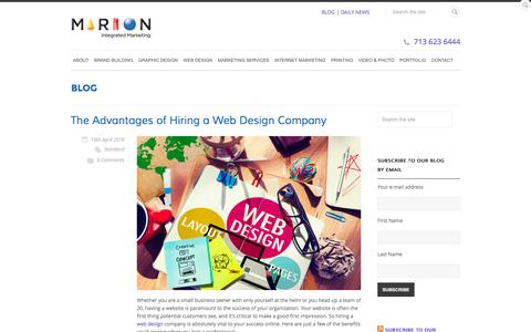 What We Think | MARION Integrated Marketing Blog