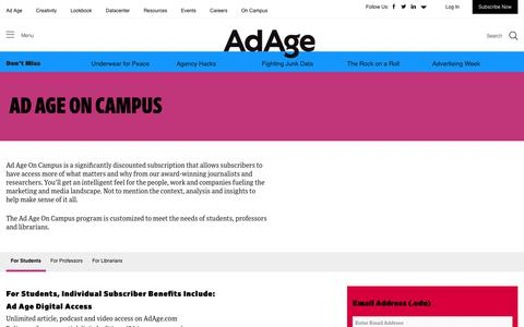 Ad Age on Campus