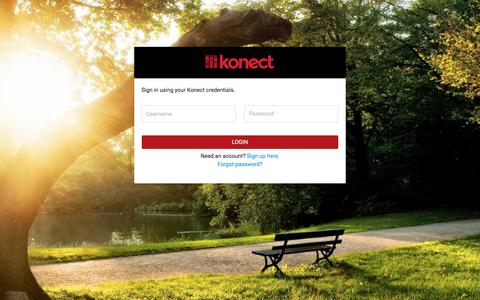 Screenshot of Login Page konect.me - Konect Sign In - captured Nov. 27, 2016