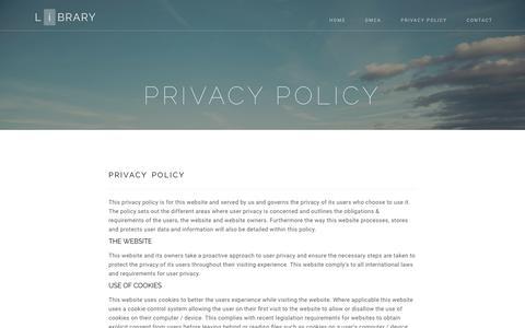 Screenshot of Privacy Page cydcopenhagen.org - Privacy Policy | cydcopenhagen.org - captured July 14, 2017