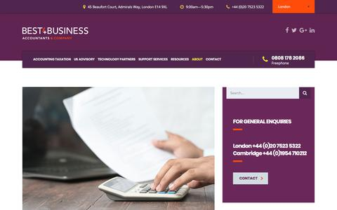 Screenshot of Pricing Page best4business.com - Pricing - Best4business Accountants | Cost-effective accounting and taxation solutions | Canary Wharf, London | Cambridge | - captured Oct. 10, 2017