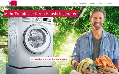 Screenshot of Home Page ea-service.at - ea-service - Ihr starker Partner für Haushaltsgeräte - captured March 31, 2017