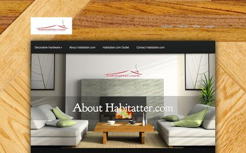 Screenshot of Home Page habitatter.com - Habitatter.com - Making Your Habitatter Better | Decorative Home Hardware & Decor - captured Oct. 1, 2014