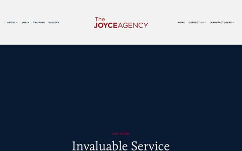 Screenshot of About Page thejoyceagency.com - Our Story — The Joyce Agency - captured Oct. 18, 2018