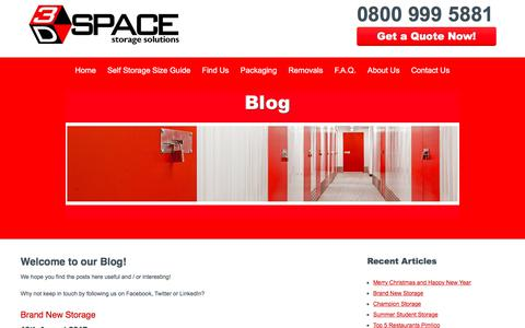 Screenshot of Blog 3dspacestorage.co.uk - Self storage news & related articles | 3D Space Storage - captured Nov. 6, 2017