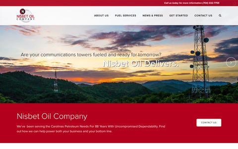 Screenshot of Home Page nisbetoil.com - Home - Nisbet Oil - captured Jan. 26, 2015