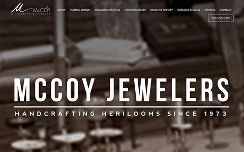 Screenshot of Privacy Page mccoyjeweler.com - Home - McCoy Jewelers - captured Oct. 27, 2014