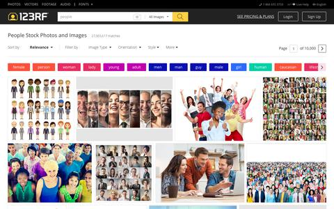 Screenshot of Team Page 123rf.com - People Stock Photos. Royalty Free People Images - captured July 14, 2018