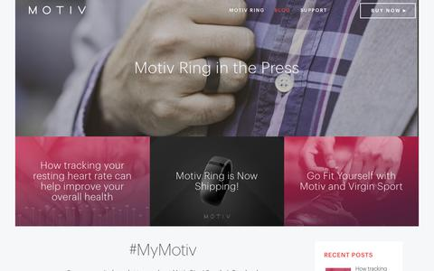 Screenshot of Blog mymotiv.com - Motiv - Activity + Sleep Tracker - captured Oct. 18, 2017