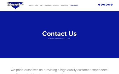 Screenshot of Contact Page wizardint.com - Contact Us — Wizard International, Inc. - captured Oct. 27, 2017