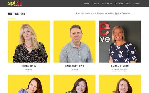 Screenshot of Team Page splicecreative.co.uk - Meet the Splice Creative team | Marketing agency, Norfolk - captured Nov. 5, 2017