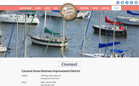 Screenshot of Contact Page coconutgrove.com - Contact - captured Sept. 23, 2014