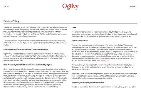 Privacy Policy | Ogilvy
