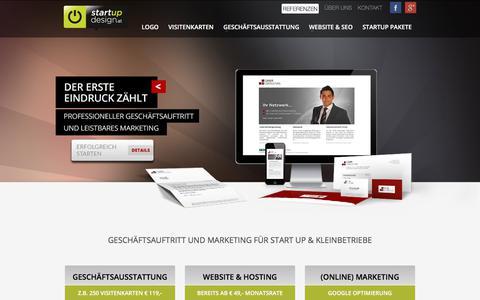 Screenshot of Home Page startup-design.at - STARTUP DESIGN Wien - Logo | Website | Print | Marketing - captured Sept. 14, 2017