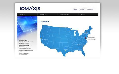 Screenshot of Locations Page iomaxis.com - Locations | IOMAXIS - captured Sept. 30, 2014