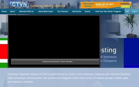 Screenshot of Home Page Privacy Page Contact Page Signup Page Login Page Terms Page carinet.tv - Caribbean TV Network – - captured Oct. 2, 2014