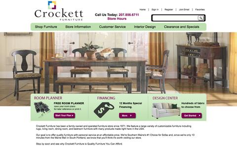 Screenshot of Home Page crockettfurniture.com - Crockett Furniture   Best Furniture Store in Maine   Gorham, ME - captured Oct. 3, 2014