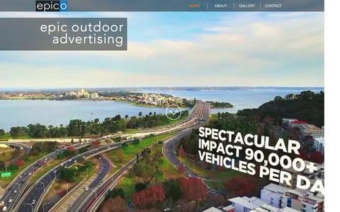 Screenshot of Home Page epico.com.au - epico, outdoor advertising - captured Nov. 9, 2016