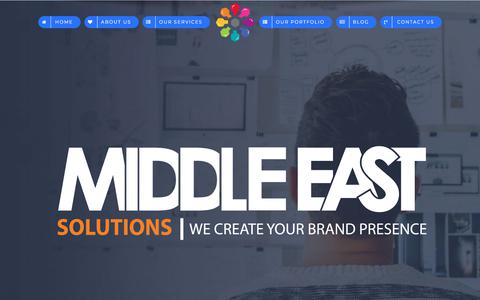 Screenshot of Home Page middleastsolutions.com - HOME: Web Design, Social media & Search Engine Optimization – Middle East Solutions - captured Dec. 20, 2017