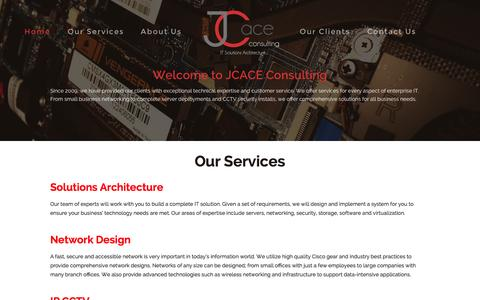Screenshot of Home Page Press Page jcace.com - JCACE Consulting - captured Sept. 30, 2014
