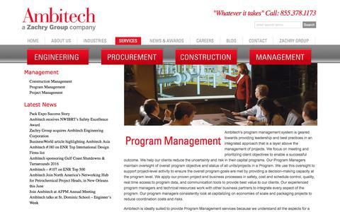 Screenshot of Team Page ambitech.com - Program Management  : Ambitech - captured Oct. 8, 2017