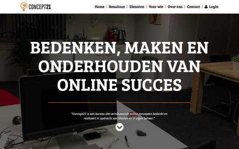 Screenshot of Home Page concept21.nl - Concept21 - captured Sept. 30, 2014