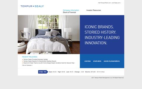 Tempur Sealy International, Inc. - Overview