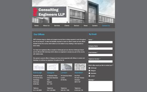 Screenshot of Contact Page rsp.net - RSP Consulting Engineers LLP - Contact Us - captured Feb. 22, 2016