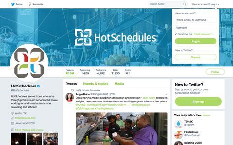 HotSchedules (@HotSchedules) | Twitter