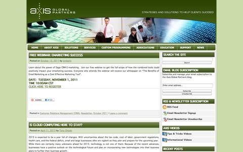 Screenshot of Press Page axisgp.com - News | Axis Global Partners - captured Oct. 4, 2014
