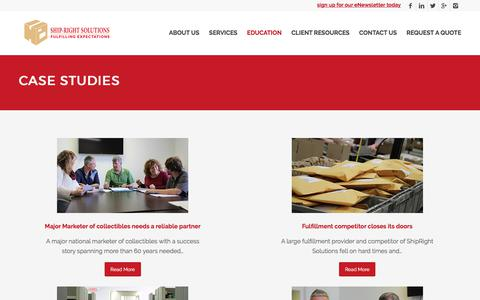 Screenshot of Case Studies Page shiprightsolutions.com - Case Studies - Ship-Right Solutions - captured Nov. 5, 2017
