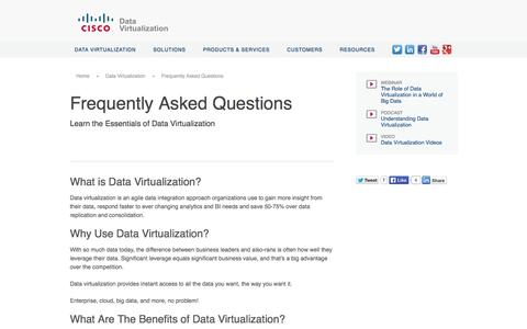 Screenshot of FAQ Page compositesw.com - Frequently Asked Questions | Cisco - captured Oct. 10, 2014