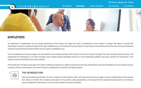 Screenshot of dotster.com - Employers - The Cydio Group - captured July 24, 2016