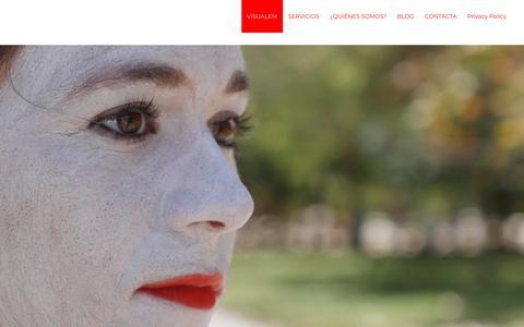 Screenshot of Home Page visualem.es - Productora Audiovisual en Valencia y Gandia Visualem - captured Oct. 20, 2018