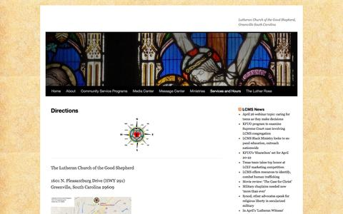 Screenshot of Maps & Directions Page wordpress.com - Directions | - captured April 21, 2017