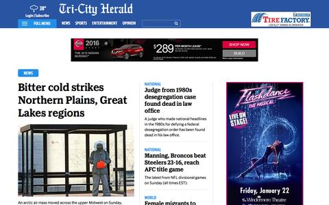 Screenshot of Press Page tri-cityherald.com - Latest Mid Columbia News | Tri-CityHerald.com & Tri-City Herald - captured Jan. 17, 2016