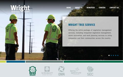Screenshot of Home Page wrightservicecorp.com - Wright Service Corp. - captured June 14, 2017