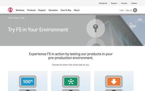 Screenshot of Trial Page f5.com - F5 Product Trials - captured April 4, 2016